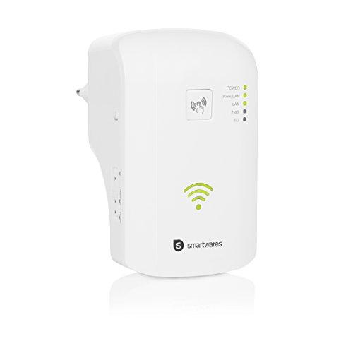 Smartwares WLAN-Repeater CR3, bis zu 1.200 Mbit/s, Dual-Band (2,4/5 GHz), 2x LAN-Port