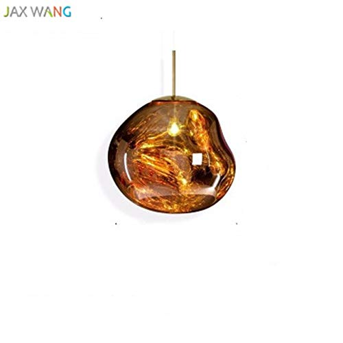 5151BuyWorld Lampe Post Moderne Tom Dixon Melt Anhänger Hochwertig Lichter Glas Lava Unregelmäßige Hang Lampe Für Wohnzimmer Schlafzimmer Lampe Restaurant Heimspiele {Yellow & D20cm}