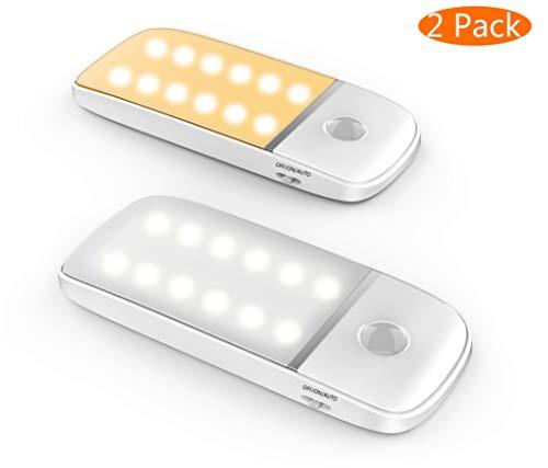 Luz Nocturna LED sensor de movimiento/Luz de armario/Luz fría y luz cálida....