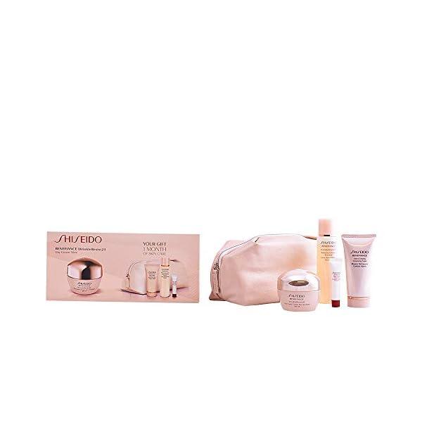 Shiseido – Benefiance – Crema de día anti-arrugas + Espuma limpiadora + Loción suavizante enriquecida + Serum activador…