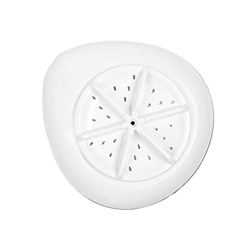 LIOOBO Ultraschall-Waschmaschine USB Portable Mini Ultraschall-Turbine Waschmaschine für Obst Schmuck Gläser Gemüse Reise Wäscherei Geschäftsreise Kleidung Studenten (Schwarz)