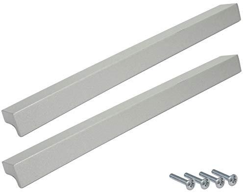 AERZETIX: 2x Tirador para cajón alacena puerta mueble armario Authie plata mate 160mm C41484