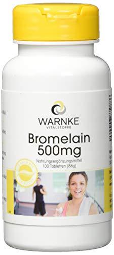 Bromelain 500mg 1200 F.I.P, natürliches Ananasenzym, 100 Tabletten, vegi