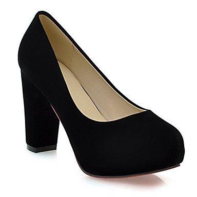 Da donna-Tacchi-Ufficio e lavoro / Formale / Casual-Scarpe e borse abbinate-Quadrato-Finta pelle-Nero / Blu / Verde / Rosso / Tessuto Black