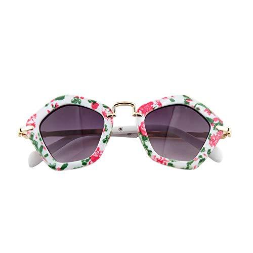 Dough.Q Sonnenbrille Kinder Junge/Mädchen 6-12 Jahre Sonnenschutz Vieleckige Sonnenbrille