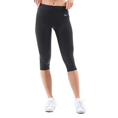Sportkind Mädchen & Damen Tennis/Fitness/Sport 3/4 Leggings, schwarz, Gr. 134