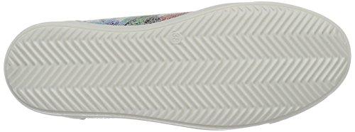 Marco Tozzi Premio 23613, Sneakers Basses Femme Blanc (White Flower 189)