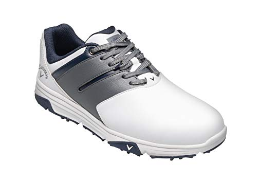 Callaway Men's Chev Mission Waterproofs Golf Shoes, White/Grey, 9 (43 EU)