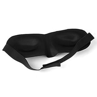Augenmaske, EONANT 100% Reine Seide Gefüllte Schlafmasken für Männer und Frauen Schwarz