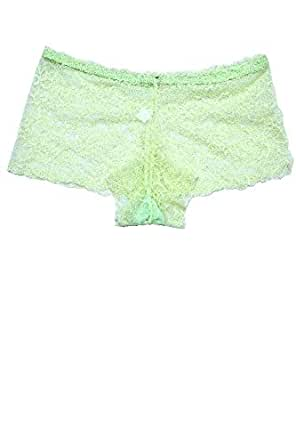 Piacere Sexy Lace Boyshorts Panty for Women Multi Colour, Designs May Vary