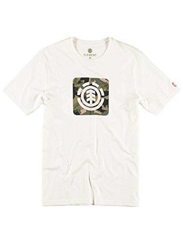 Herren T-Shirt Element Dpm Icon FR T-Shirt Off White