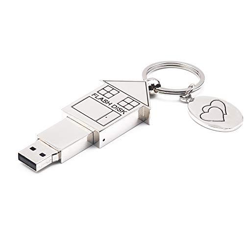 Sytauuan Kleines Haus Schlüsselanhänger Alloy USB-Flash-Memory-Stick U-Diskette für Computer Notebook 512mb - Alloy Usb-flash-laufwerk