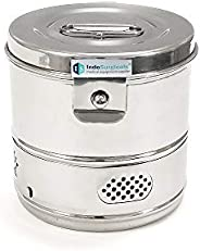 """IS IndoSurgicals Stainless Steel Dressing Drums (6"""""""