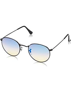 Ray-Ban Gafas de sol de Metal redondeos en negro degradado espejo azul RB3447 002/4O 50