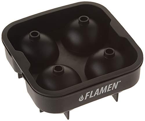 Flamen XXL Eiskugelform – BPA freie Silikon-Eisform mit Deckel – formt runde Eiswürfel mit 4x4,5 cm Durchmesser – Ideal für Whiskey, Cocktails und alkoholfreie Kaltgetränke (1 Pack)