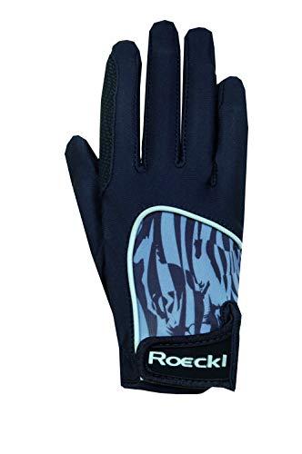 Roeckl Sports Junior Handschuh -Kuka- Kinder Reithandschuh, Schwarz, 4