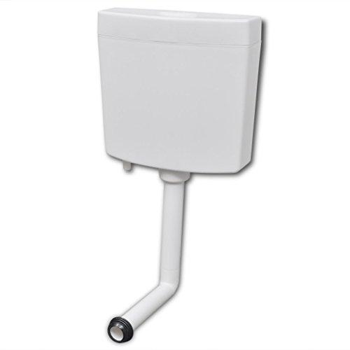 vidaXL Spülkasten für WC Toiletten mit 2 Spültasten, Weiß