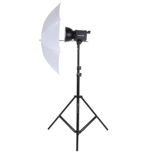 Walimex Studioset Daylight 250S (Dauerlicht 250 W, Lampenstativ, Durchlichtschirm) - 50w Spiral