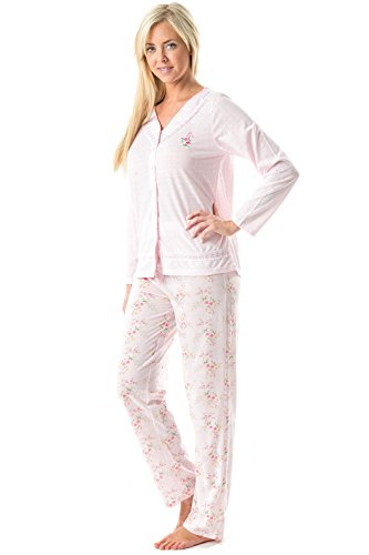 Casual nights Damen Schlafanzug Gr. XXL, Pointelle/Pink - Pointelle Long Sleeve Top