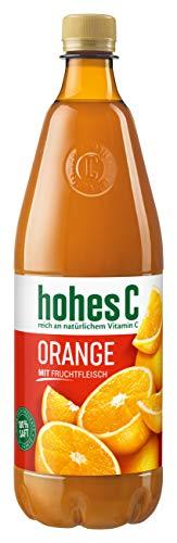 Hohes C Orangen Saft mit Frucht-Fleisch, (1 x 1,0 l) - Fleisch-saft