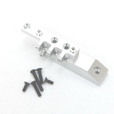 ST Racing Concepts STA80072FS Heavy Duty Aluminum Front Servo Mount Block and Upper Link Mount for The Axial Wraith, Silver