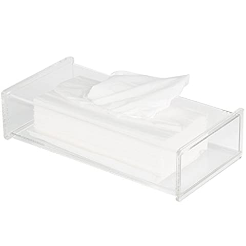 TRIXES große transparente rechteckige Tissue Box aus Acryl Kosmetiktuch Spender Halter