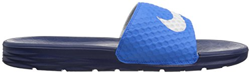 Nike Benassi Solarsoft, Tongs Homme Photo Blue/White/Binary Blue