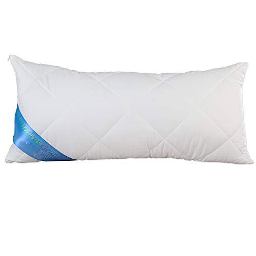 *Schlafmond Medicus Clean Allergiker Kopfkissen 40×80 cm, Komfortkissen mit anpassbarer Füllmenge, bis 95 Grad waschbar*