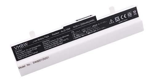 vhbw Li-Ion Akku 2200mAh (10.8V) Weiss für Notebook Laptop Asus Eee PC 1005P, 1005HA, 1001P, R101, R101D, R101PX, R101X, R105, 1001PQD, 1001PX. (Asus Eee Pc Ersatzteile)