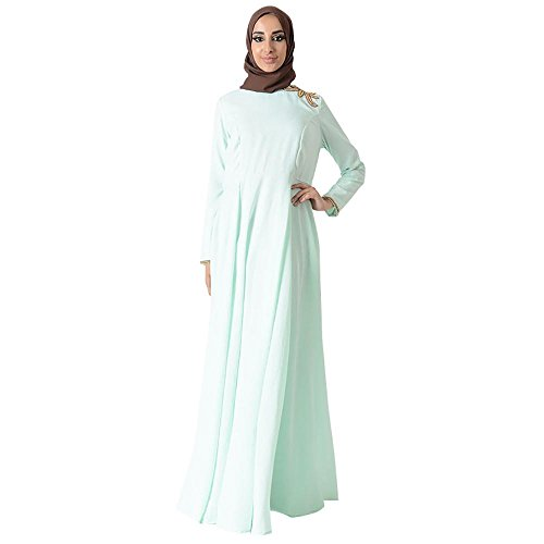 Shoulder Motif Eid Abaya Dress+Hijab