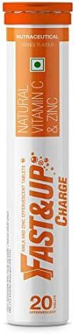 Fast&Up Charge - Vitamin C - Zinc - Natural Amla Extract - Antioxidants - Immunity - skin care - 20 Efferv