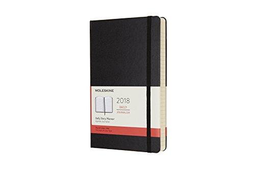 Agenda 2018 journalier grand format rigide noir