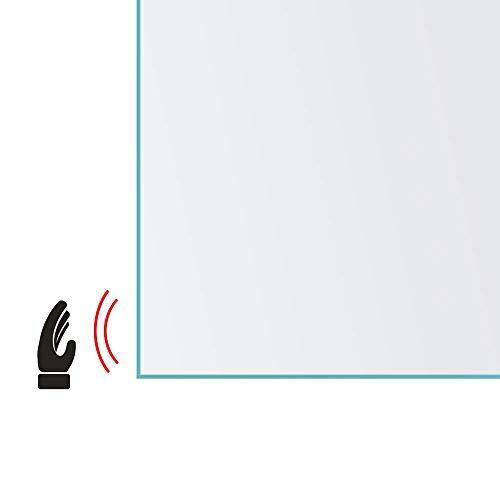 Spiegel ID ZUSATZOPTION für LED Badspiegel: Infrarot Sensor (zum Bedienen der Beleuchtung) Position: rechte Spiegelkante -