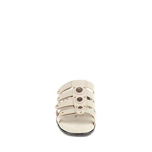 Propet Lakita Elite Cuir Sandale Bone