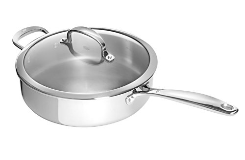 OXO Good Grips Tri-Ply Stainless Steel Pro 4QT Covered Skillet Non-stick Covered Casserole
