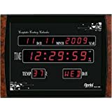#10: Ajanta Plastic Digital Black Wall Clock (39.6 cm x 29.6 cm x 3.1 cm ) - OLC-105