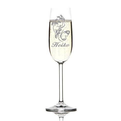 polar-effekt 1 Sektglas inkl. Gravur mit Motiv und Name schöne Geschenk-Idee für Champagner-, Prosecco- und Sekttrinker