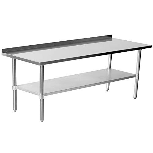 Edelstahltisch Arbeitstisch Küchentisch Edelstahl mit Aufkantung 120 cm,150 cm, 180 cm, Edelstahltisch:Tisch mit Aufkantung 180