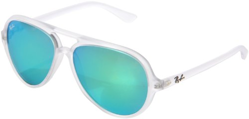 Ray-Ban 0rb4125 CATS 5000 Aviator Sonnenbrille, White (646/19 646/19)