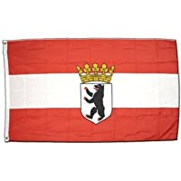 10 x 15 cm Flaggenfritze/® Tischflagge Deutschland Berlin mit Krone
