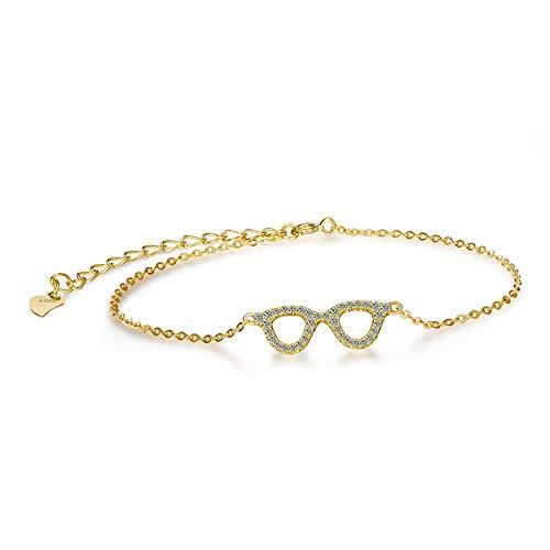 GUANHONG Damen Armband S925 Sterling Silber Damen Armband Brille Koreanisch Schmuck Geschenke für Mama