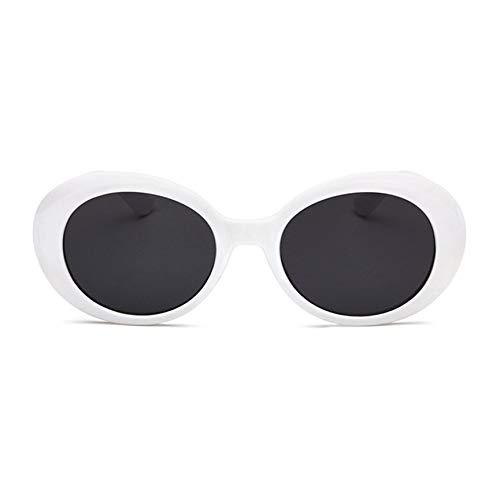 Peanutaod Mode Ovale Sonnenbrille Übergroße Brille Dame Herren Anti-UV-Strahlung Prävention Cool Eyewear