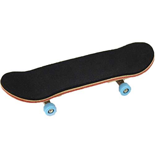 AmaMary Finger Skateboard Kinder, Mini Ahorn Holz Fingerboards Finger Skateboard Erwachsene Kinder Spielzeug großes Geschenk (Himmelblau)