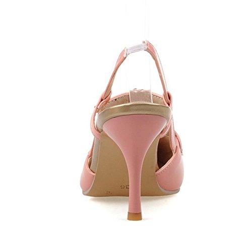 COOLCEPT Mode-Event Damen Stiletto Sandalen Slingback Fashion Party Shoes Plus Sizes Pink
