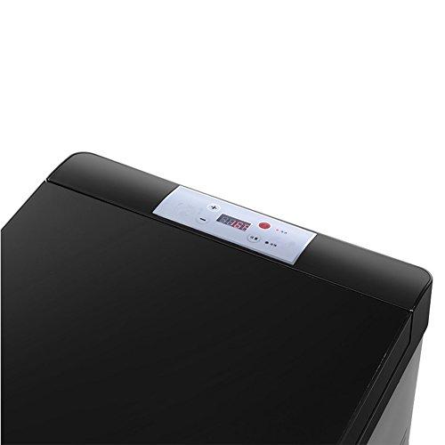 SL&BX Auto kühlschrank,Dual mini-kühlschrank gefrierfach 30l tragbare mini-kühlschrank edelstahl look für schlafzimmer,Büro oder wohnheim-B 37x58x36.5cm(15x23x14inch) -