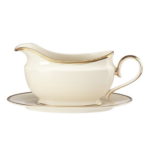 Lenox Eternal Sauce Boat and Stand, Ivory by Lenox Lenox Sauce Boat