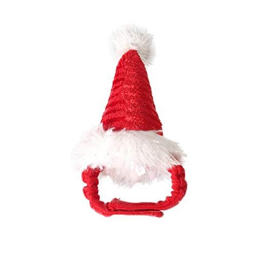 Deayi Halloween Haarreif DekoParty Weihnachten Haustierzubehör HaustiereCosplay Zubehör Cute Puppy Stirnband Husky Pet Supplies Weihnachtsmütze