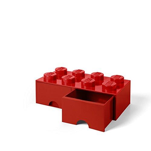 LEGO Schublade 8 Noppen, 2 Schubladen, stapelbare Box, 9,4 l