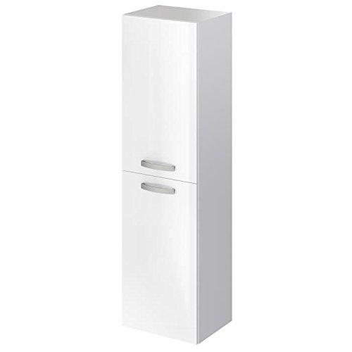 STELLA Colonne de salle de bain L 40 cm - Laque blanc brillant