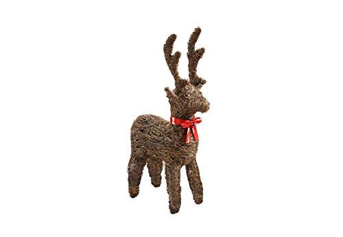 Kobolo Rentier Rattan Weihnachtsdeko Winterdeko Geschenkidee Rudolf Reindeer